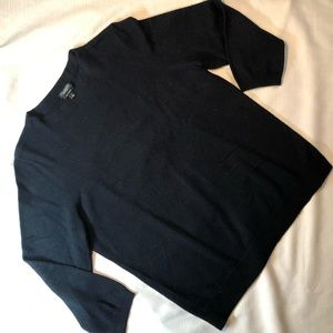 Talbots black pure cashmere 3/4 sleeve sweater - L